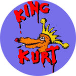 King Kurt Dog Logo Badge