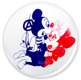 Seditionaries Mickey And Minnie Badge