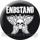 Endstand Skull Butterfly Badge