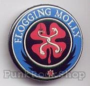 Flogging Molly Shamrock Blue Red Badge
