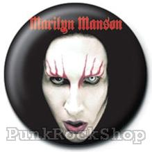 Marilyn Manson Head Shot Badge