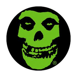 Misfits Misfits Green Skull Badge