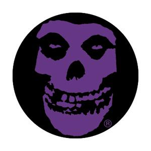 Misfits Purple Skull Badge