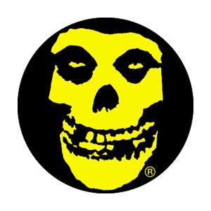 Misfits Yellow Skull Badge