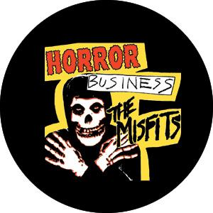 The Misfits Horror Business Badge