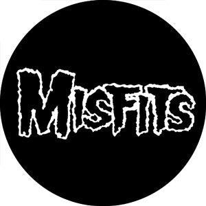 The Misfits White Logo Badge
