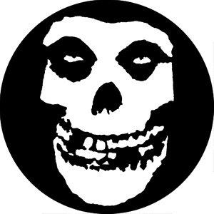 The Misfits White Skull Badge