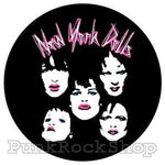 New York Dolls Faces Badge