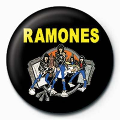 Ramones Group Cartoon Badge