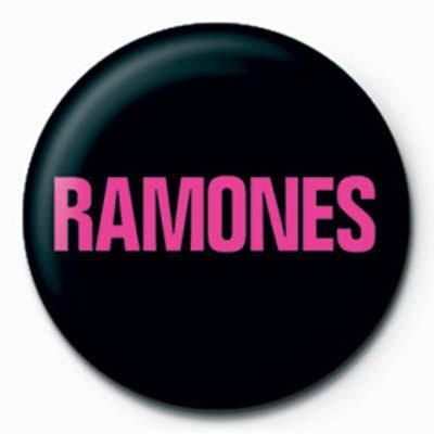 Ramones Pink Logo Badge
