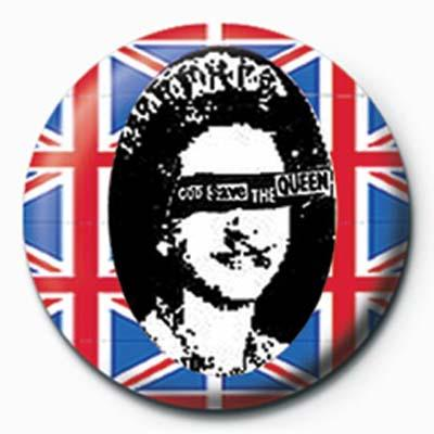 Sex Pistols God Save The Queen Badge