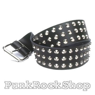 Various Punk 3 Row Conical 38mm studded belt  Belt