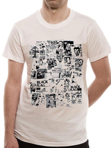 Black Flag -Flyers Mens Tshirt