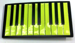 Punk Buckle Green And Black Piano Keyboard Belt Buckle