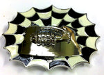 Punk Buckle 5 Grenade Web Black and White Belt Buckle