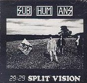Subhumans 29 29  Split Vision CD