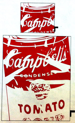 Andy Warhol Campbells Wharhol Tomato Soup Single Duvet and Pillow Cover General Stuff