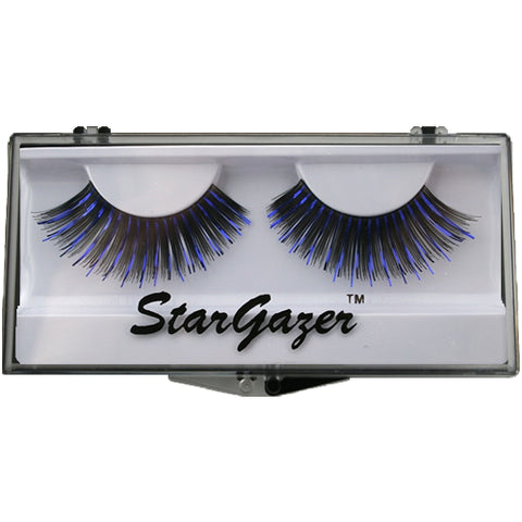 Stargazer Number 08  Black And Blue Foil False Eyelashes includes glue Eye Wear