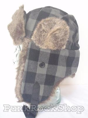 Chaos Brothers Trapper Hat Grey and Black Headwear