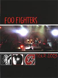 Foo Fighters 2003 tour program Tour Programme