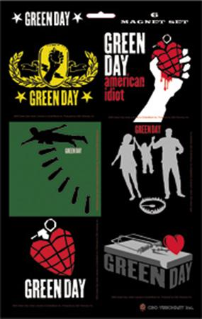 Green Day 6 Magnet Set Magnet