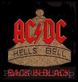 ACDC AC/DC Hells Bells Back In Black Woven Patche