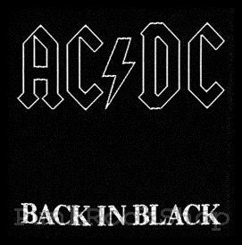 AC/DC Back in Black Woven Patche