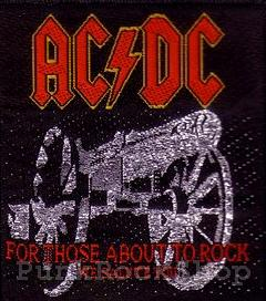 AC/DC For Those About to Rock Woven Patche