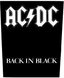 AC/DC Back in Black Backpatche