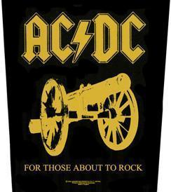 AC/DC For Those about to Rock Backpatche