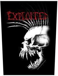 The Exploited Skull Red logo Backpatche