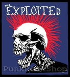 The Exploited Coloured Skull Woven Patche