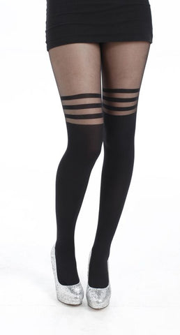 Pamela Mann 3 Hoop Tights Black Tight