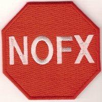 NOFX Traffic Sign Logo Woven Patche