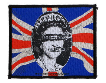 Sex Pistols God Save the Queen Woven Patche