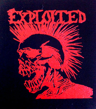 Exploited Red Skull Printed Patche