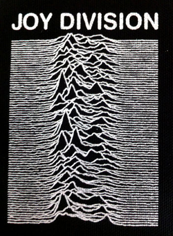 Joy Division Unknown Pleasures  Printed Patche