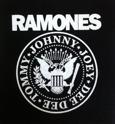 Ramones Crest On Black Printed Patche