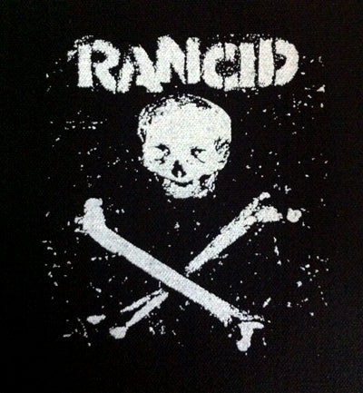 Rancid Skull And Crossbones Printed Patche