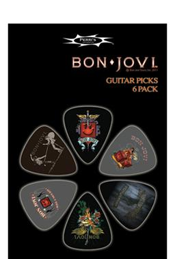 Bon Jovi picks 6 x med gauge picks pack 1 Guitar Pick