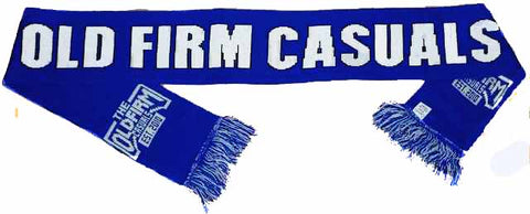 Old Firm Casuals Blue Logo Scarf Scarve