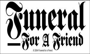 Funeral for a friend Logo Sticker