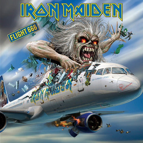 Iron Maiden Flight 666 Sticker