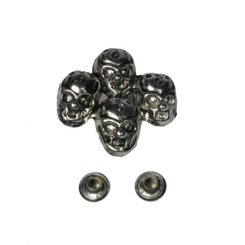 Single Four Skull Stud Stud