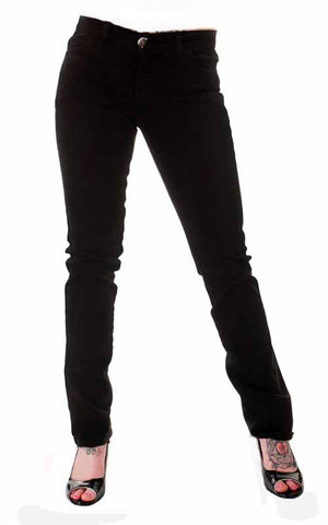 Tiger Of London Tiger of London Low Rise Black Cotton Stretch Low Jeans Womens Trouser