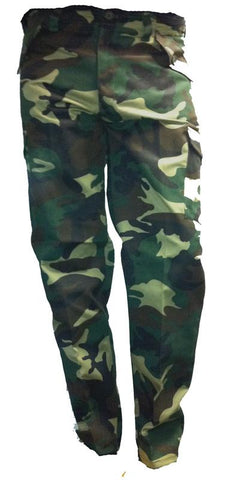 Various Punk Woodland Green Camo Trousers Mens Trouser