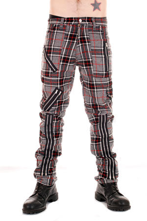 Tiger Of London Tiger of London Grey Tartan CCF-752-GRY Mens Trouser