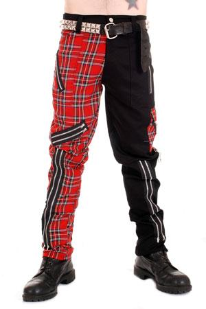 Tiger Of London Tiger of London Zip Bondage J Split Leg Pants in Black Cotton CCF-854 Mens Trouser