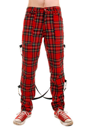Tiger Of London Tiger of London UK Bondage Red Tartan CCF-704 Mens Trouser