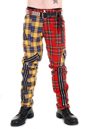 Tiger Of London Tiger of London Red/Yellow Split Leg CCF800 RYL  Mens Trouser
